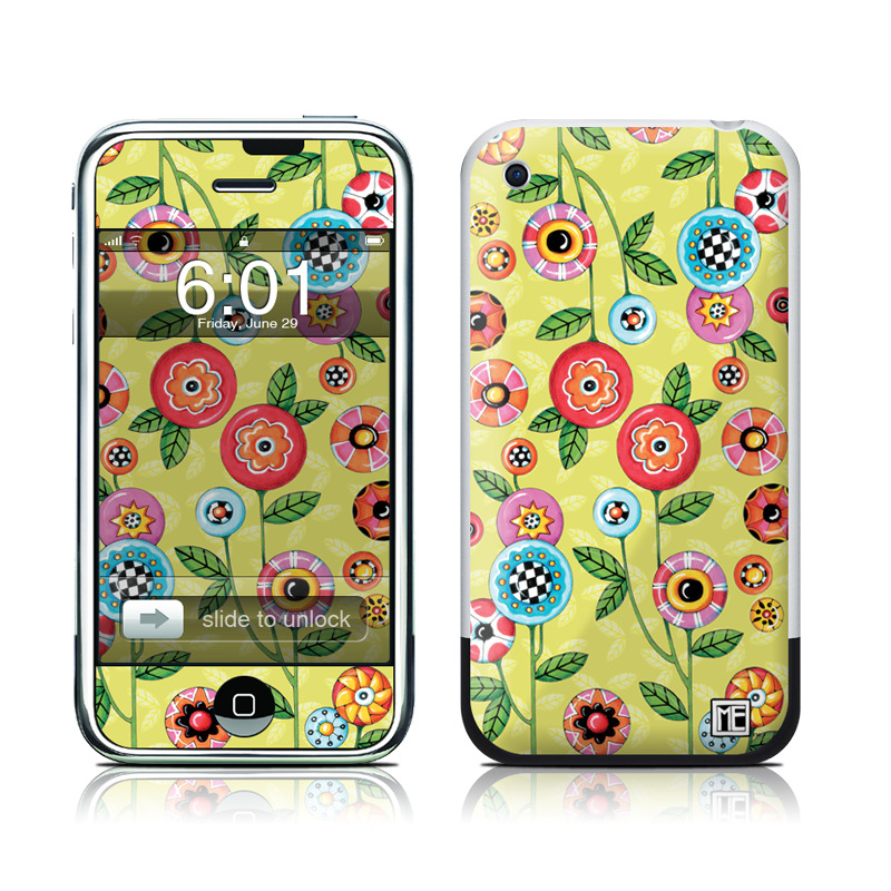 Button Flowers iPhone 1st Gen Skin