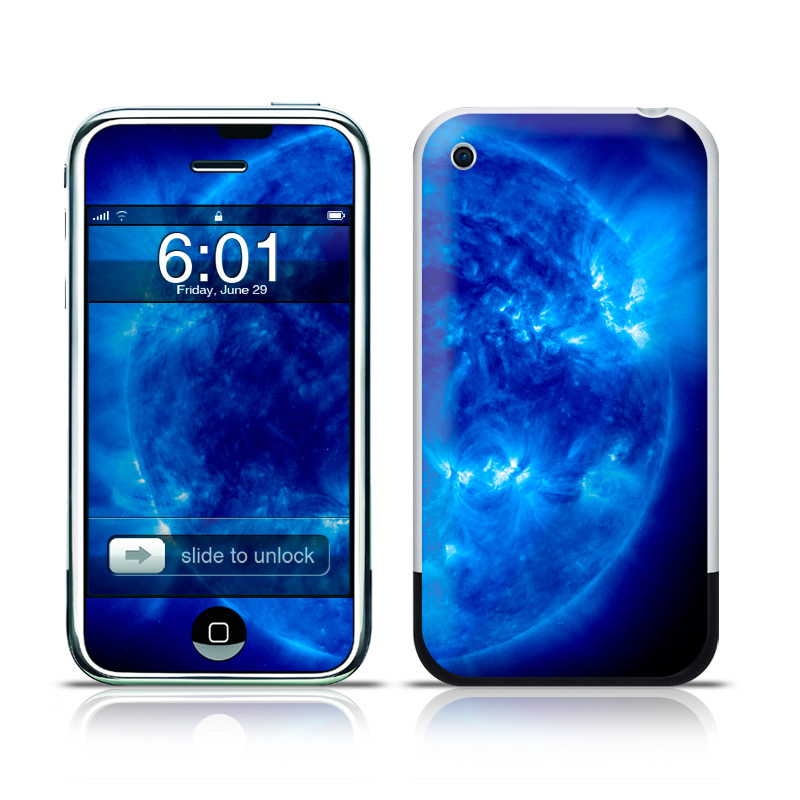 iPhone 1st Gen Skin design of Blue, Astronomical object, Outer space, Atmosphere, Electric blue, Earth, Planet, Water, Space, Universe with blue, black colors