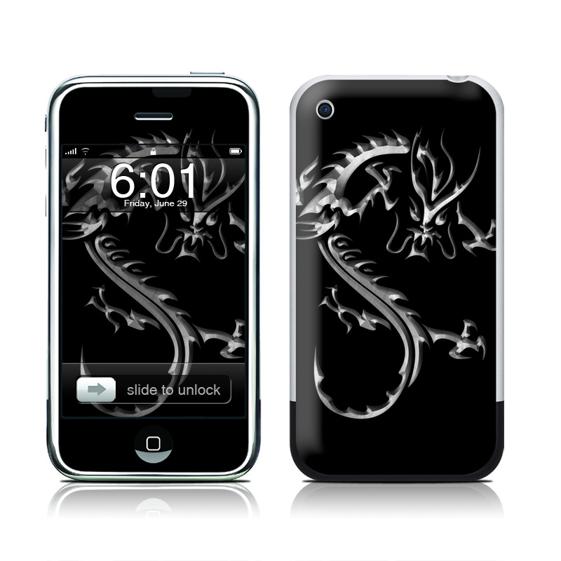Chrome Dragon iPhone 1st Gen Skin