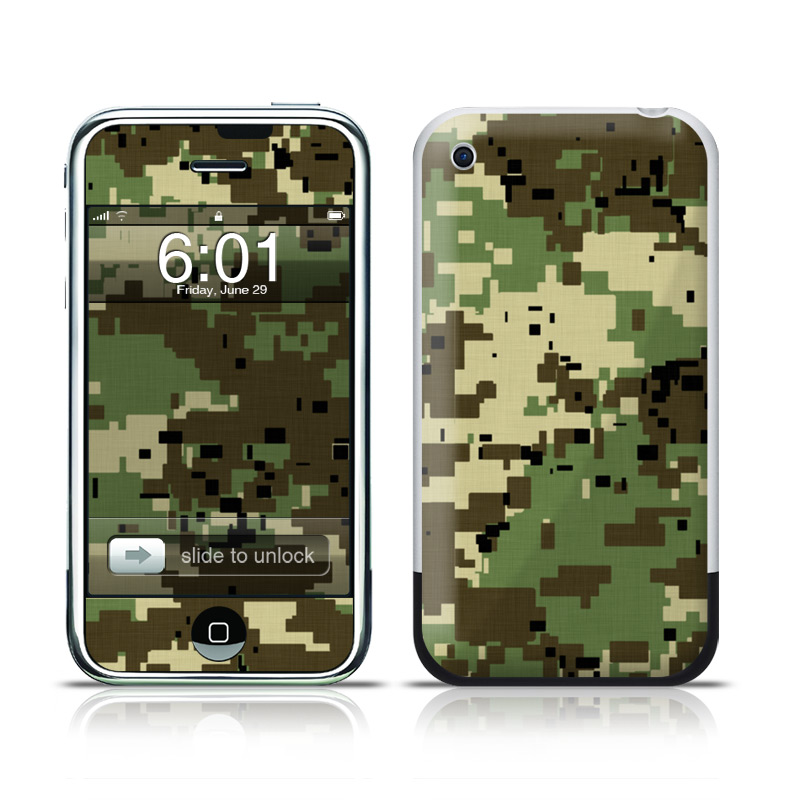 Digital Woodland Camo iPhone 1st Gen Skin