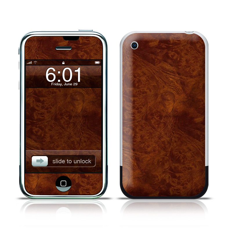 Dark Burlwood iPhone 1st Gen Skin
