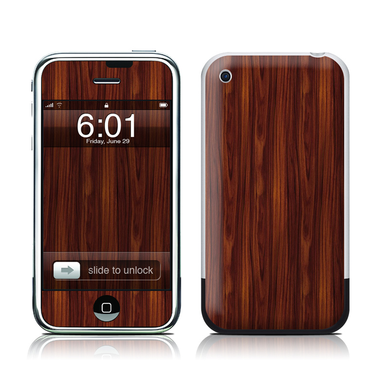 Dark Rosewood iPhone 1st Gen Skin