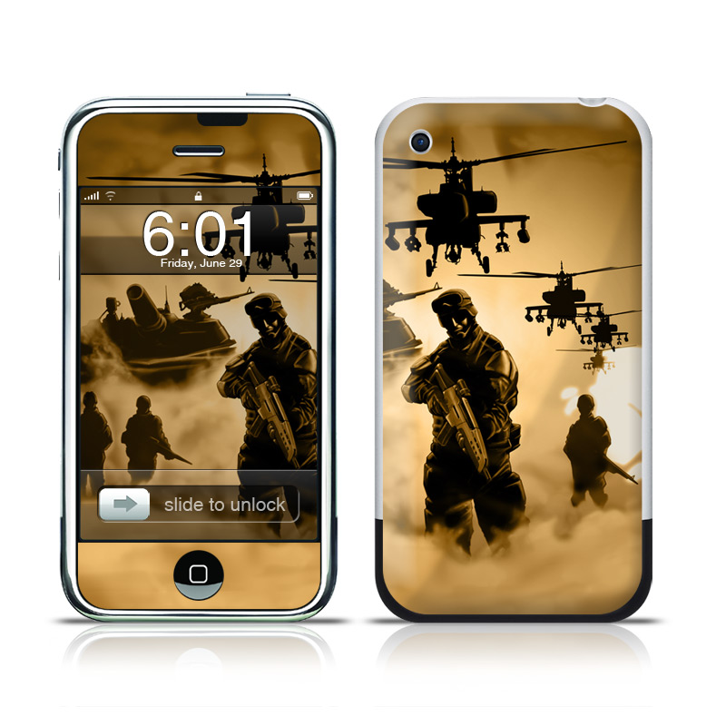 iPhone 1st Gen Skin design of Soldier, Army men, Military organization, Infantry, Army, Military, Military person, Military uniform, Marines, Military officer with green, black, pink, red, gray, yellow colors