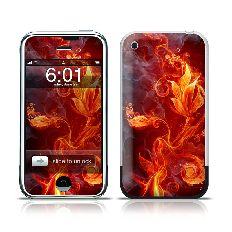 Flower Of Fire iPhone 1st Gen Skin
