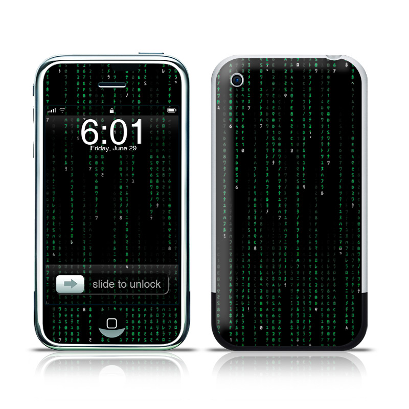 Matrix Style Code iPhone 1st Gen Skin