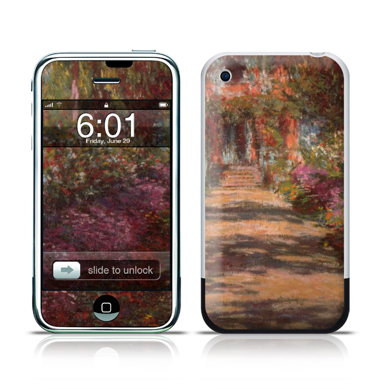 Monet - Garden at Giverny iPhone 1st Gen Skin