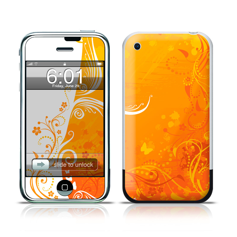 Orange Crush iPhone 1st Gen Skin