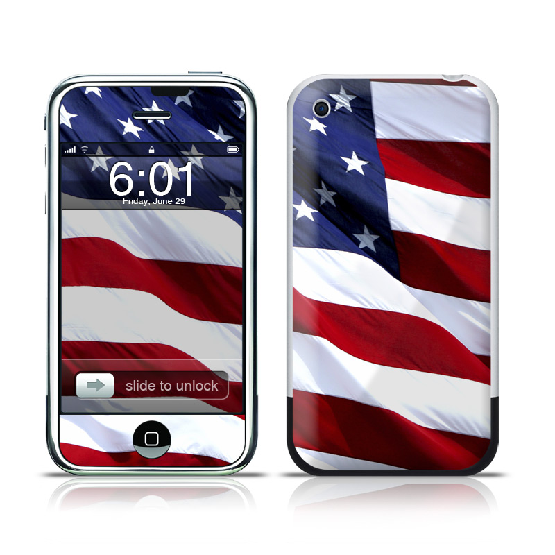 Patriotic iPhone 1st Gen Skin