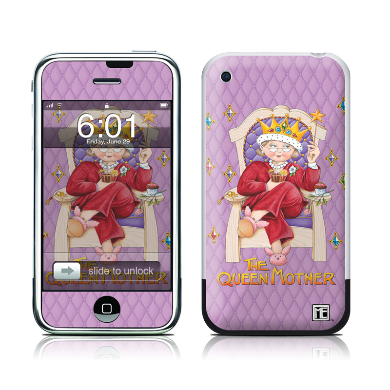 iPhone 1st Gen Skin design of Illustration, Art, Blessing with gray, red, green, pink, purple, orange colors