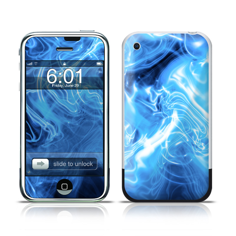 Blue Quantum Waves iPhone 1st Gen Skin