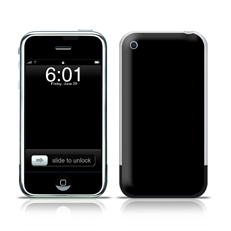 Solid State Black iPhone 1st Gen Skin