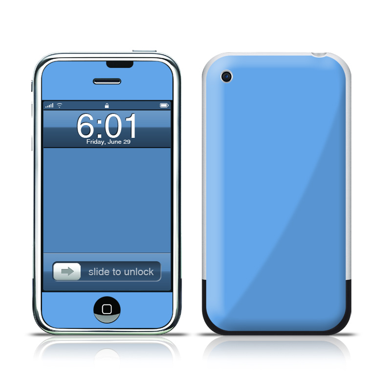 iPhone 1st Gen Skin design of Sky, Blue, Daytime, Aqua, Cobalt blue, Atmosphere, Azure, Turquoise, Electric blue, Calm with blue colors
