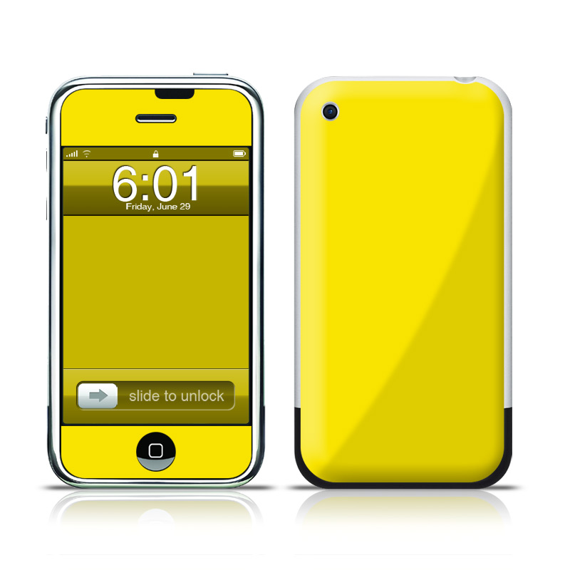 Solid State Yellow iPhone 1st Gen Skin