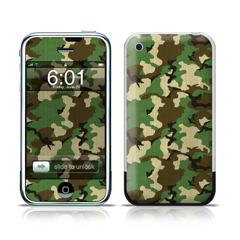 Woodland Camo iPhone 1st Gen Skin