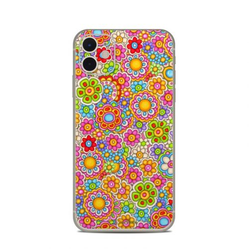 Bright Ditzy iPhone 11 Skin