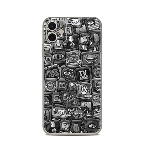 Distraction Tactic B&W iPhone 11 Skin