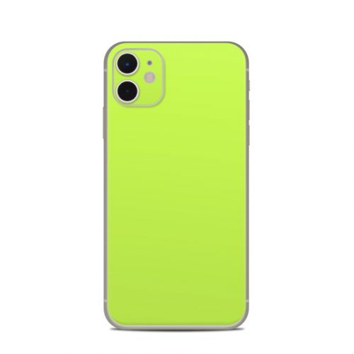 Solid State Lime iPhone 11 Skin