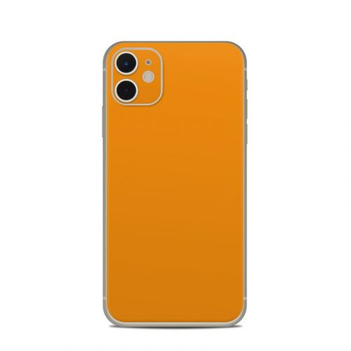 Solid State Orange iPhone 11 Skin