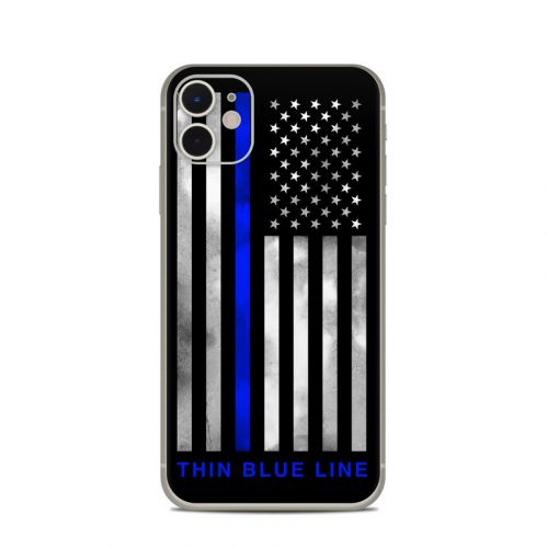 Thin Blue Line iPhone 11 Skin