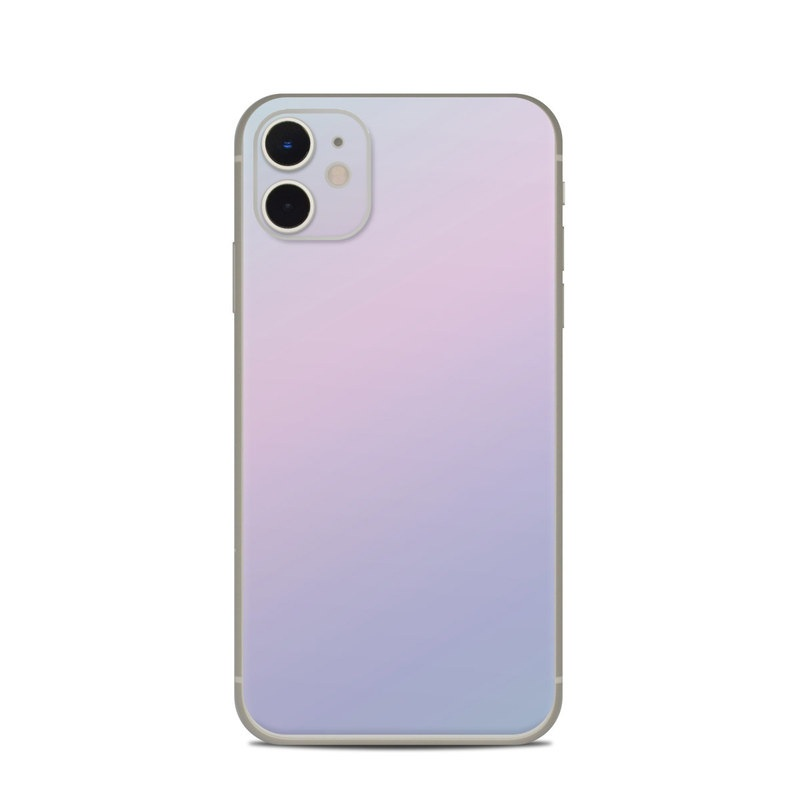 iPhone 11 Skin design of White, Blue, Daytime, Sky, Atmospheric phenomenon, Atmosphere, Calm, Line, Haze, Fog with pink, purple, blue colors