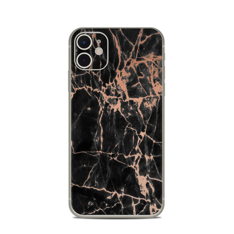 iPhone 11 Skin design of Branch, Black, Twig, Tree, Brown, Sky, Atmosphere, Plant, Winter, Night with black, pink colors