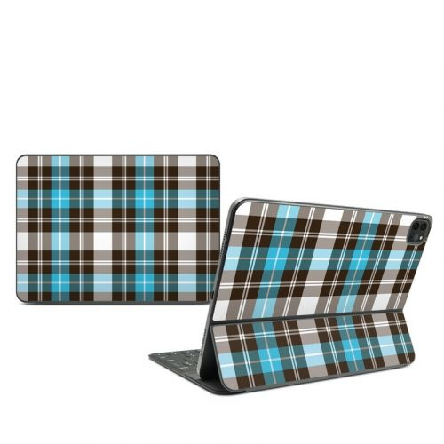 Turquoise Plaid iPad Pro 11-inch Smart Keyboard Folio Skin