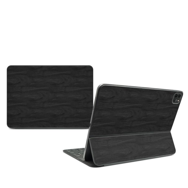 iPad Pro 11-inch Smart Keyboard Folio Skin design of Black, Brown, Wood, Grey, Flooring, Floor, Laminate flooring, Wood flooring with black colors