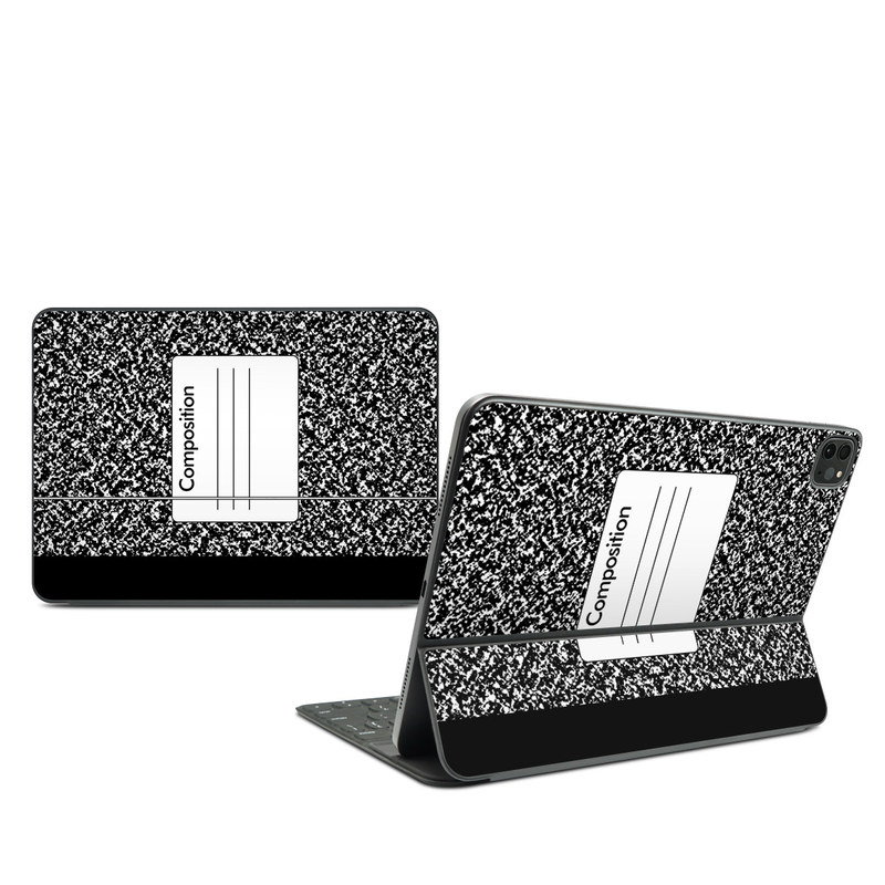iPad Pro 11-inch Smart Keyboard Folio Skin design of Text, Font, Line, Pattern, Black-and-white, Illustration with black, gray, white colors