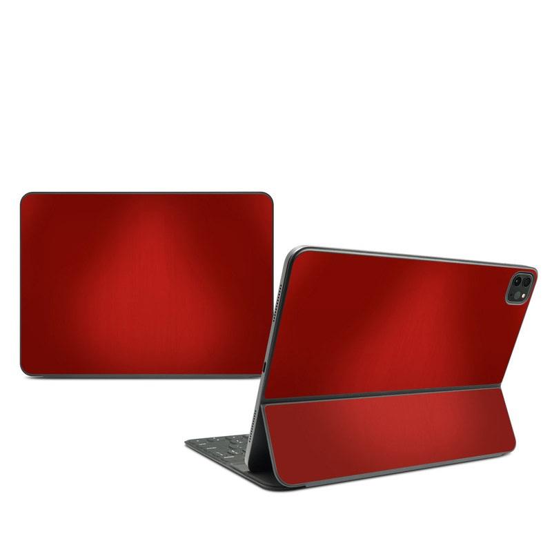 iPad Pro 11-inch Smart Keyboard Folio Skin design of Red, Maroon, Orange, Brown, Peach, Pattern, Magenta with red colors