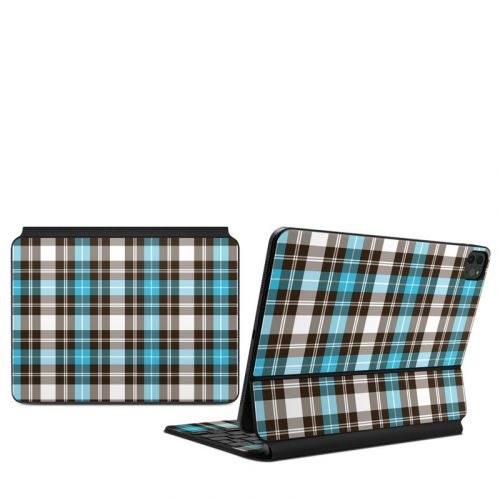 Turquoise Plaid iPad Pro 11-inch Magic Keyboard Skin