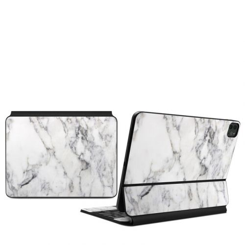White Marble iPad Pro 11-inch Magic Keyboard Skin
