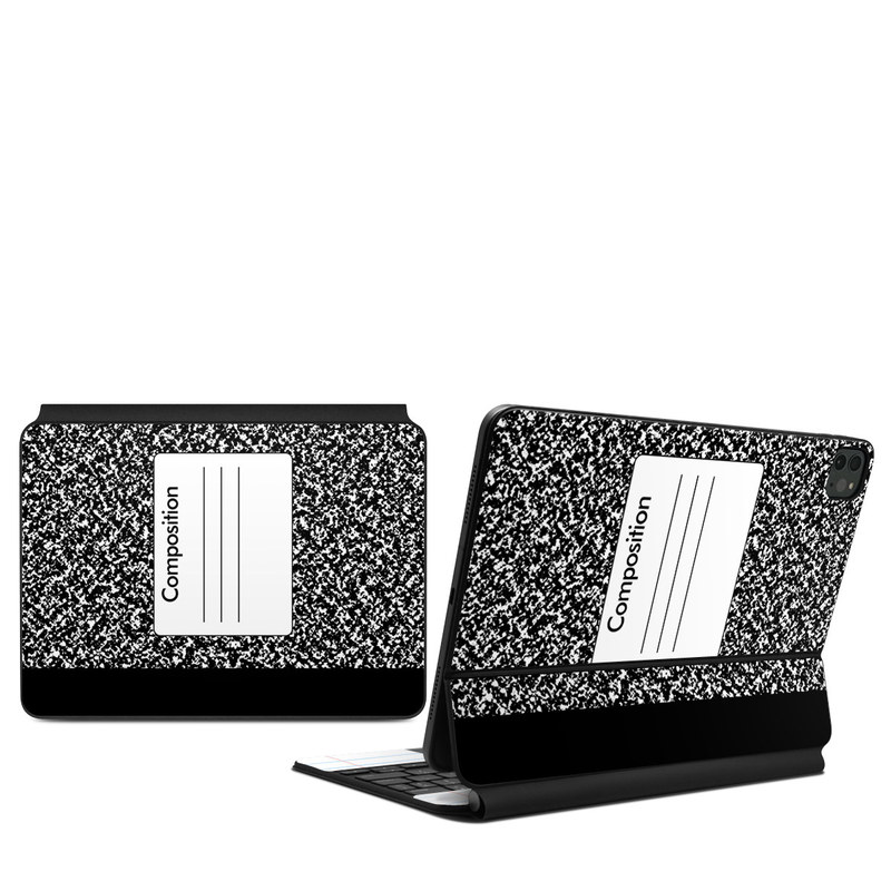 iPad Pro 11-inch Magic Keyboard Skin design of Text, Font, Line, Pattern, Black-and-white, Illustration with black, gray, white colors