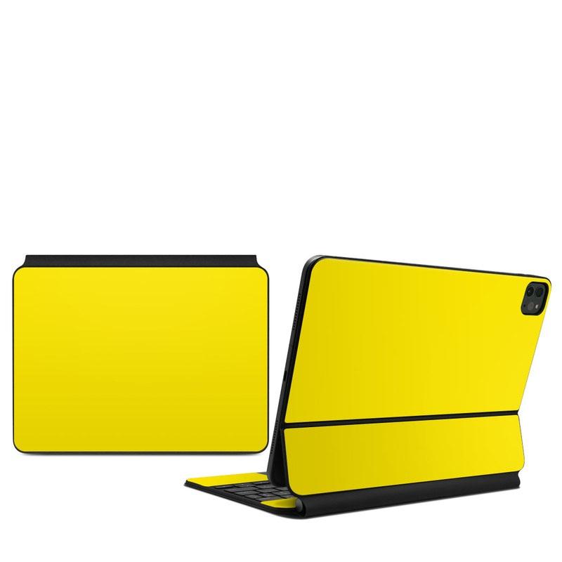 iPad Pro 11-inch Magic Keyboard Skin design of Green, Yellow, Orange, Text, Font with yellow colors