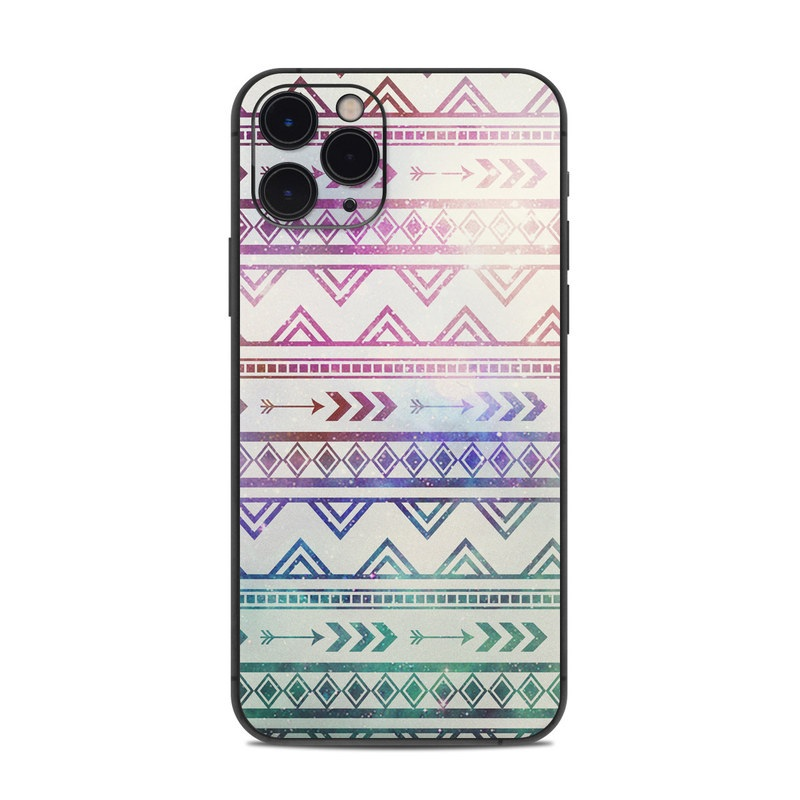 iPhone 11 Pro Skin design of Pattern, Line, Teal, Design, Textile with gray, pink, yellow, blue, black, purple colors