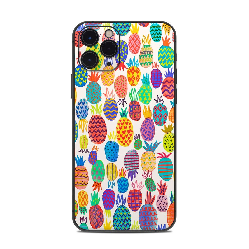 iPhone 11 Pro Skin design of Colorfulness, Textile, Art, Line, Circle, Symmetry, Pattern, Electric blue, Visual arts, Design with white, red, blue, green, yellow, purple, pink colors