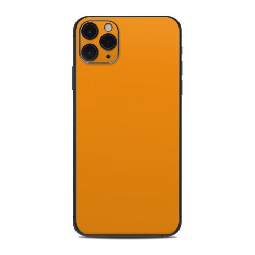 Solid State Orange iPhone 11 Pro Max Skin