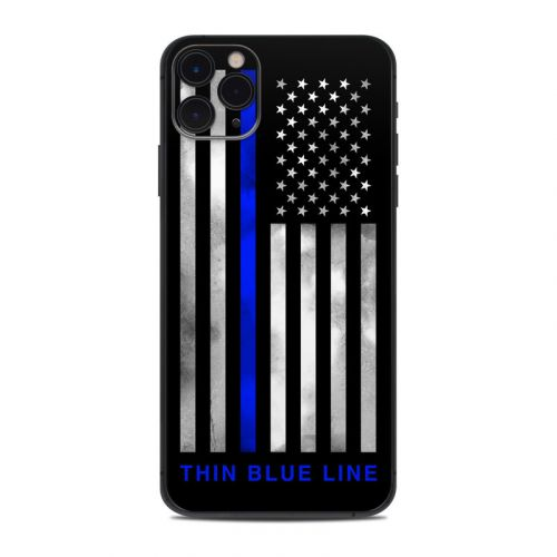 Thin Blue Line iPhone 11 Pro Max Skin