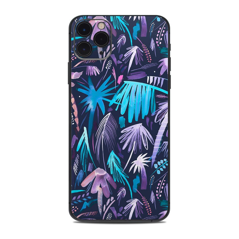 iPhone 11 Pro Max Skin design of Purple, Blue, Graffiti, Pattern, Psychedelic art, Art, Violet, Lilac, Design, Electric blue with blue, purple, black, white, pink colors