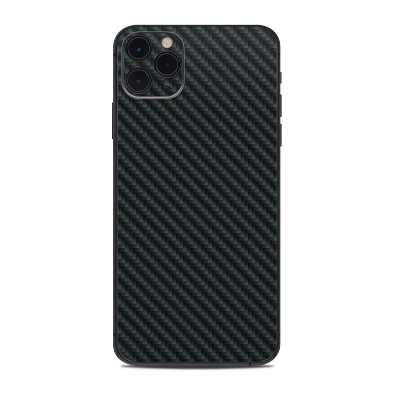 iPhone 11 Pro Max Skin design of Green, Black, Blue, Pattern, Turquoise, Carbon, Textile, Metal, Mesh, Woven fabric with black colors