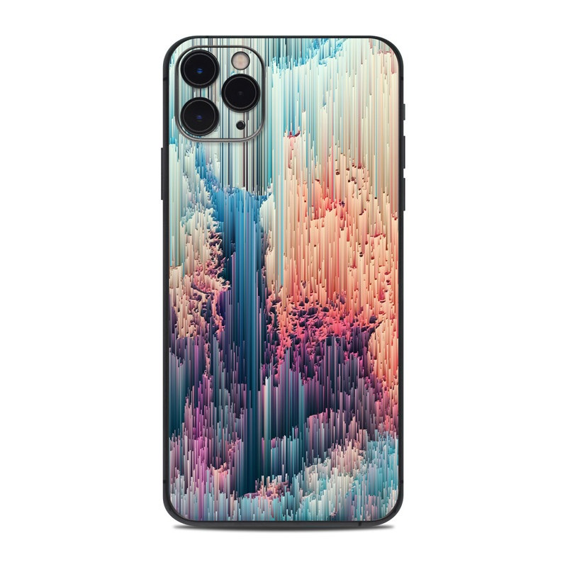 iPhone 11 Pro Max Skin design of Blue, Pink, Sky, Turquoise, Design, Rock, Textile, Photography, Cloud, Winter with white, blue, purple, pink, red colors