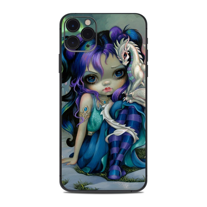 iPhone 11 Pro Max Skin design of Illustration, Fictional character, Cg artwork, Art, Mythology, Anime, Mythical creature with green, blue, purple, yellow, red, white colors