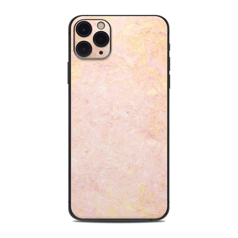 iPhone 11 Pro Max Skin design of Pink, Peach, Wallpaper, Pattern with pink, yellow, orange colors