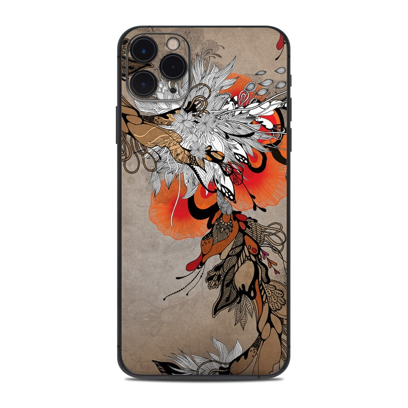 iPhone 11 Pro Max Skin design of Art, Street art, Illustration, Graphic design, Graffiti, Visual arts, Painting, Mural, Acrylic paint, Modern art with gray, red, black, green colors