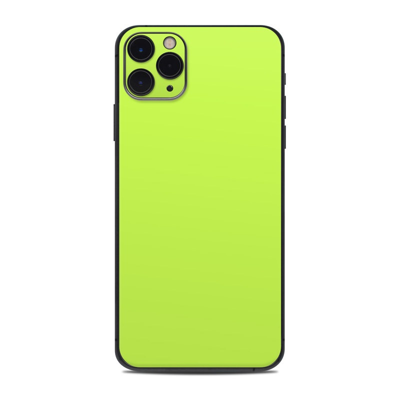 iPhone 11 Pro Max Skin design of Green, Yellow, Text, Leaf, Font, Grass with green colors