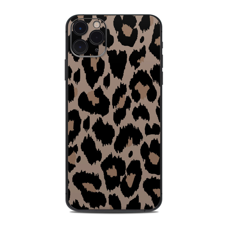 iPhone 11 Pro Max Skin design of Pattern, Brown, Fur, Design, Textile, Monochrome, Fawn with black, gray, red, green colors