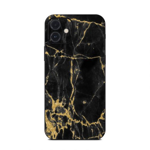 Black Gold Marble iPhone 12 Skin