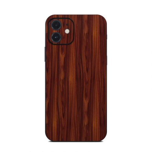 Dark Rosewood iPhone 12 Skin