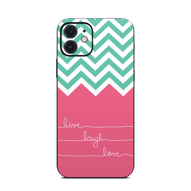iPhone 12 Skin design of Pink, Aqua, Line, Text, Turquoise, Pattern, Font, Magenta, Teal, Design with purple, white, blue, gray, pink colors