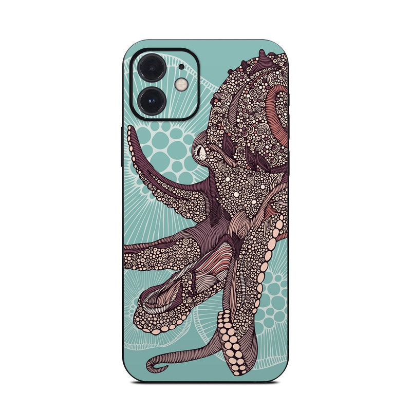 iPhone 12 Skin design of Illustration, Art, Elephants and Mammoths, Pattern, Graphic design with gray, black, red, green colors