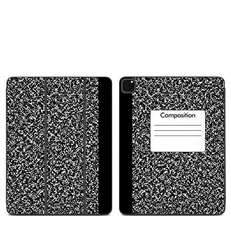 iPad Pro 12.9-inch Smart Folio Skin design of Text, Font, Line, Pattern, Black-and-white, Illustration with black, gray, white colors